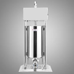 15l 33lbs Electric Sausage Filler Stuffer Maker Commercial