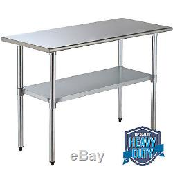 X Commercial Stainless Steel Work Table Food Prep Kitchen - 24 x 48 stainless steel work table