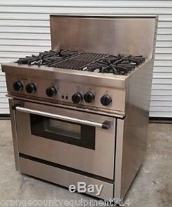 36 range 4 burner u0026 broiler u0026 oven thermador prg364 stove