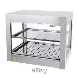 Commercial 24x20x15 Countertop 2 Tier Food Pizza Warmer