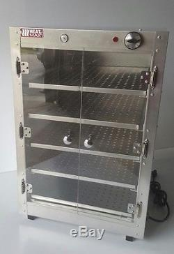 Commercial Food Warmer, Heatmax 19x19x29 Hot Box Pizza Pastry Concession