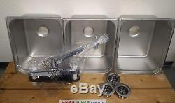 3 4 Compartment Concession Sink Portable Plumbing Kit for 4 Drains