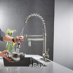 Eyekepper Single Handle Pull Down Kitchen Sink Faucet Commercial Style Pre Rinse