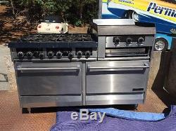 Garland 6 Burner Stove Gas Range With 24 Flat Grill