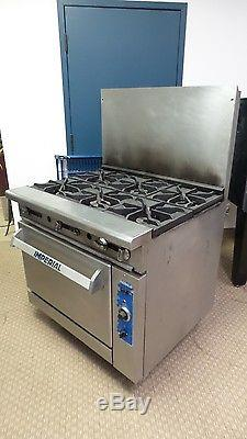 Imperial Gas Range Commercial 36 6 Burner With Convection Oven