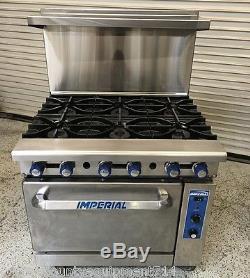 Imperial 6 Burner Range Amp Gas Convection Oven Ir 6c 5380