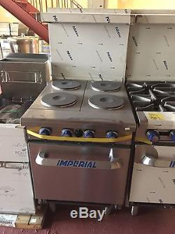 Imperial Commercial Restaurant Range 24 With 4 Elements 20 Standard Oven Electric Model Ir-4-E
