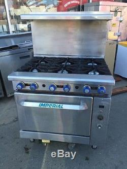 Imperial Ir 6c 36 Six Burner Range Stove With Convection