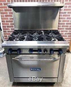 Good Royal Rr 6 Restaurant Equipment 36 6 Burner Stainless Steel Gas Range Oven
