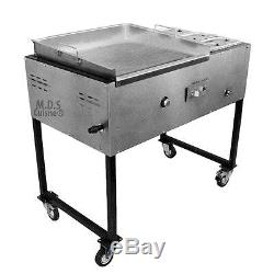 Taco Cart Stainless Steel Griddle Commercial Catering