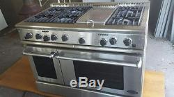 Used Commercial 6 Burner Range With Oven Dcs Rd 486gd L
