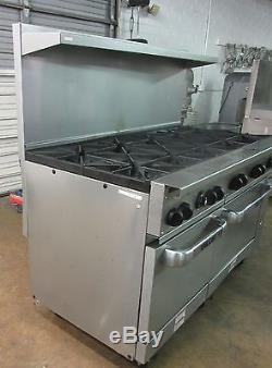 Vulcan Natural Gas 10 Burner Restaurant Range Double Oven