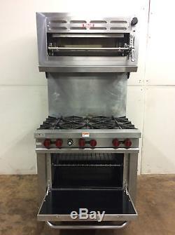 Vulcan V36 Commercial 6 Burner Nat Gas Range With Oven And