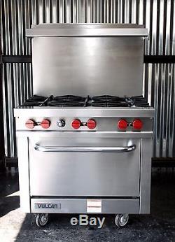 Vulcan V36 Restaurant Range Natural Gas 36\' Commercial Oven ...